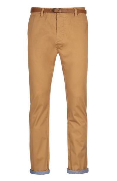 Chino ravne hlače s pasom