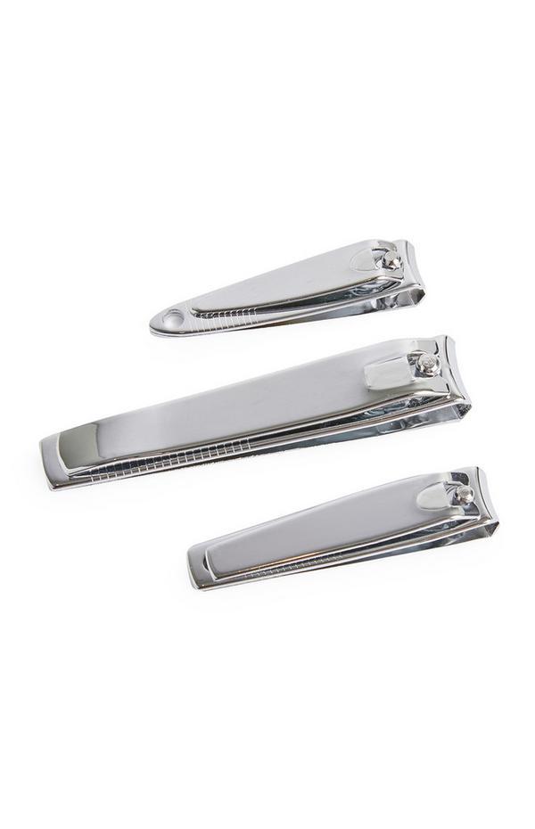 Nagelknipser in Metallic-Optik, 3er-Pack