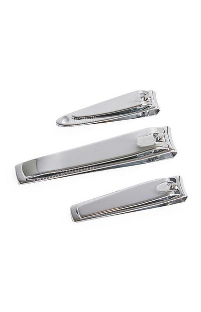 3-Pack Metallic Nail Clippers
