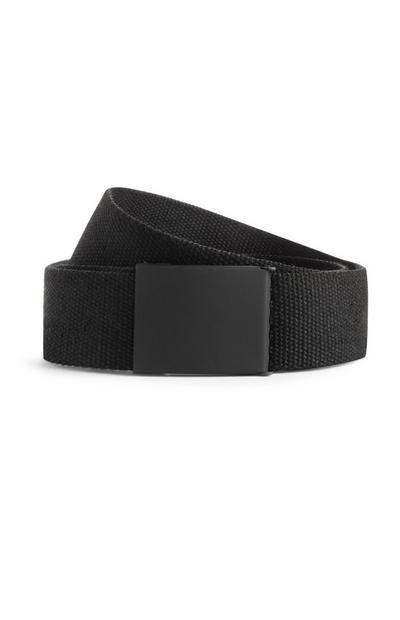 Black Industrial Canvas Belt