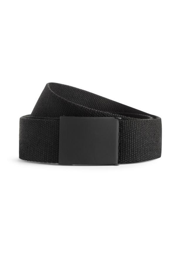 Black Industrial Canvas Belt