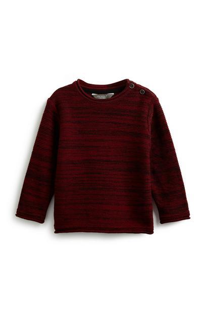 Baby Boy Button Neck Sweatshirt