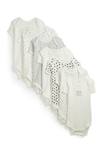 Pack 7 babygrows preto e branco