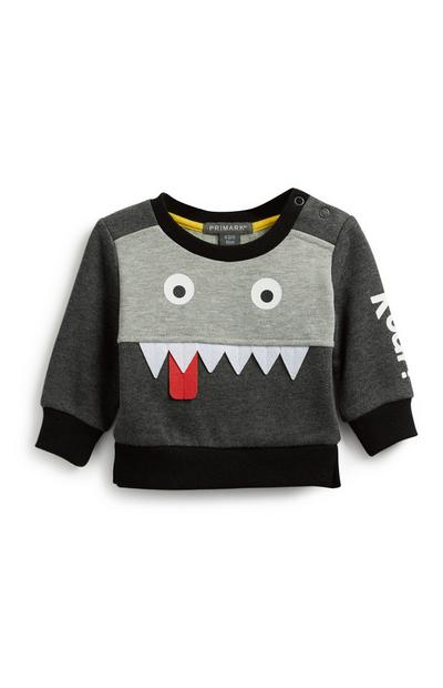 Baby sweatshirt met monsterprint