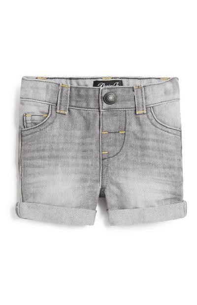 Short en jean gris garçon