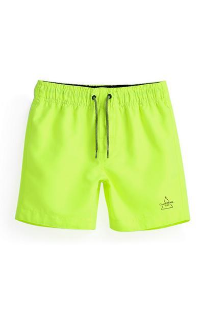 Pantaloncini mare fluo da bambino