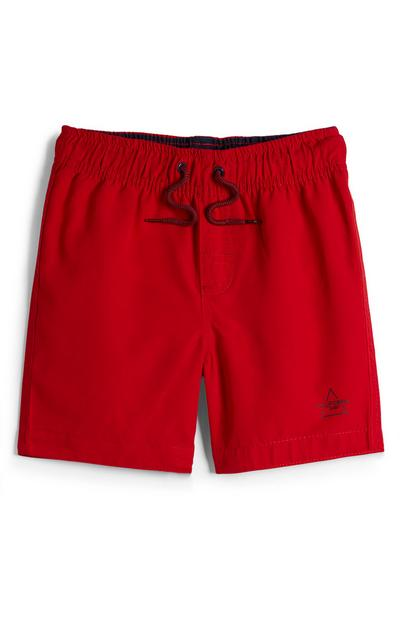Pantaloncini mare rossi da bambino