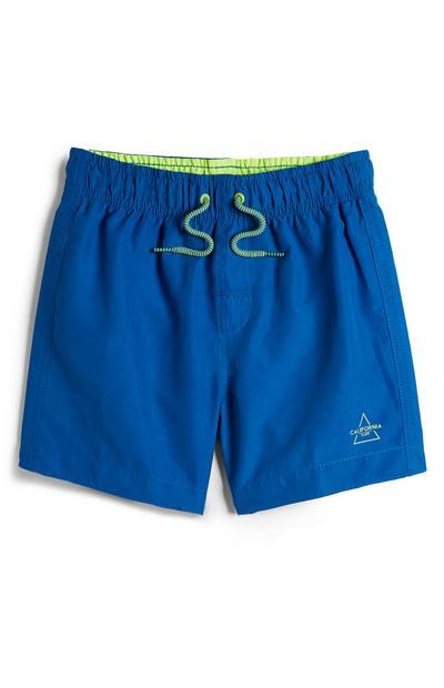 Pantaloncini mare blu da bambino