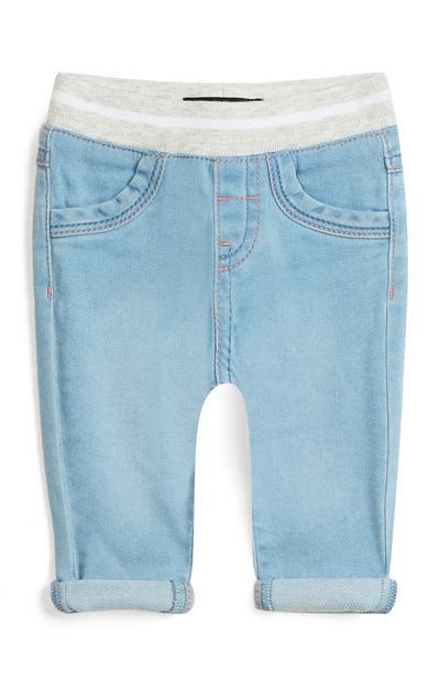 Pantaloni in denim da bimba