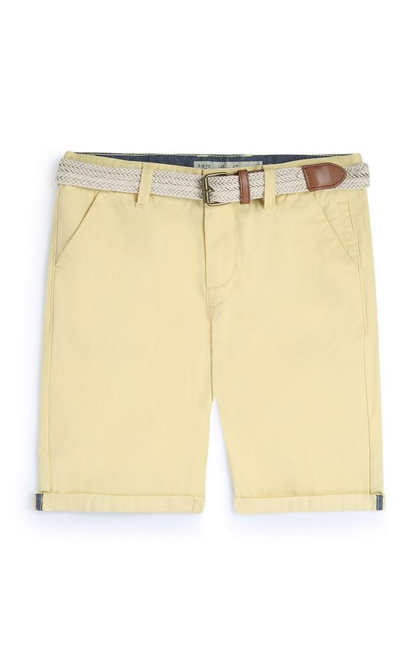 Older Boy Yellow Chino Shorts