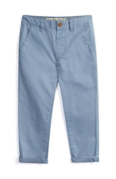 Pantalón chino azul claro de niño pequeño