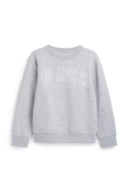 Sweat-shirt gris ado