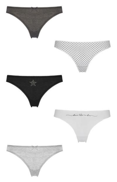 5-Pack Thongs