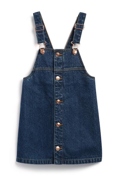 Robe chasuble en jean fille