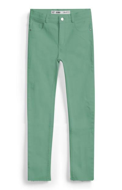 Calças ganga rapariga verdes