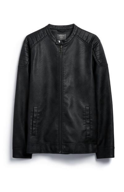 Casaco motard preto