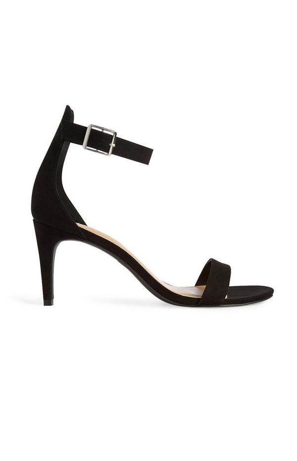 Black Strappy Sandal Stilettos
