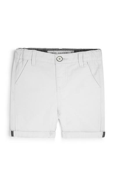 Pantalón corto chino blanco de bebé niño