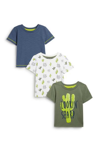 Babyshirt voor jongens, 3 st.