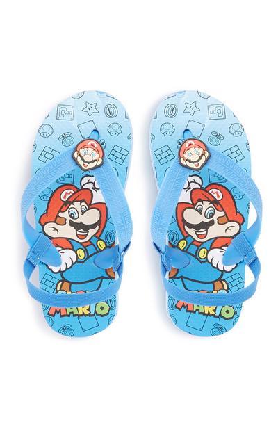Younger Boy Mario Flip Flop