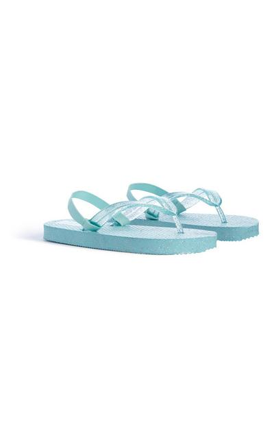 Tongs turquoise fille