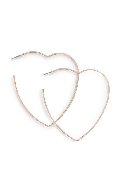 Hartvormige oorbellen