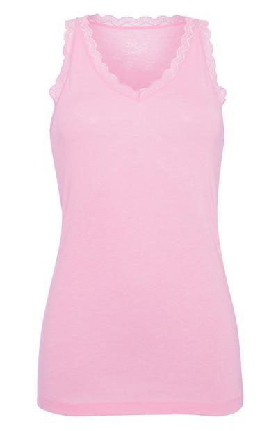 Roze hemd met randje