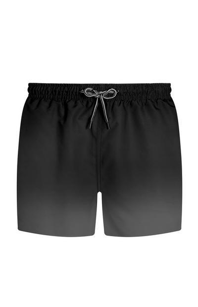 Black Dip Dye Shorts