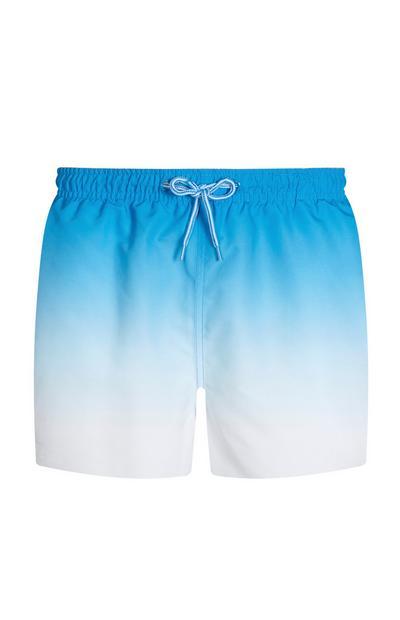 Blauwe verwassen zwemshort