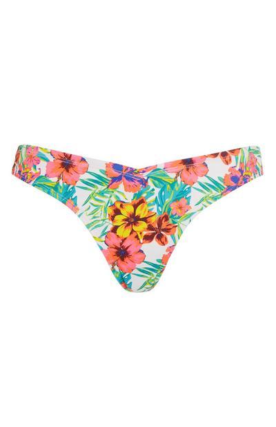 Gebloemd Braziliaans bikinibroekje