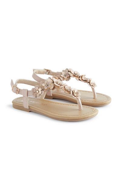 Sandali con glitter da bambina