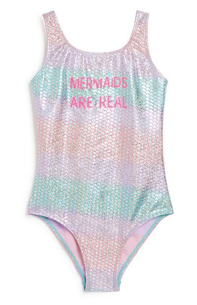Badpak met Mermaid-slogan