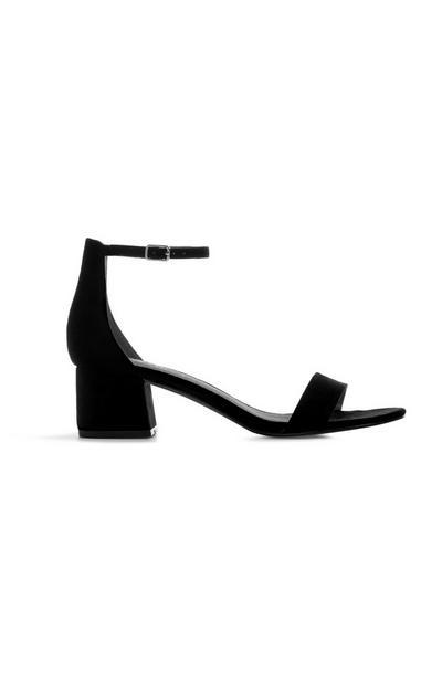 Black Block Heel Sandal
