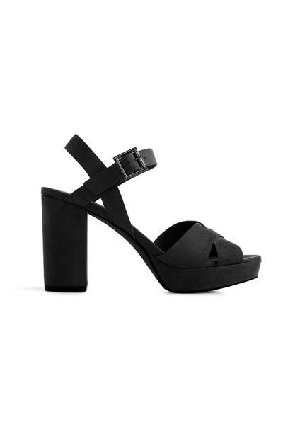 Black Platform Sandal Heels