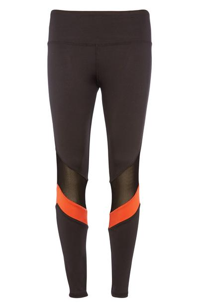 Leggings mit Streifen in Mesh-Optik