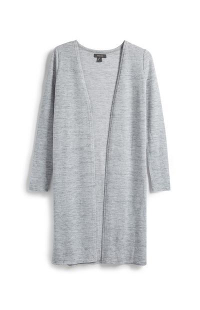 Cardigan long gris