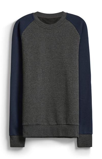 Camisola decote redondo texturada