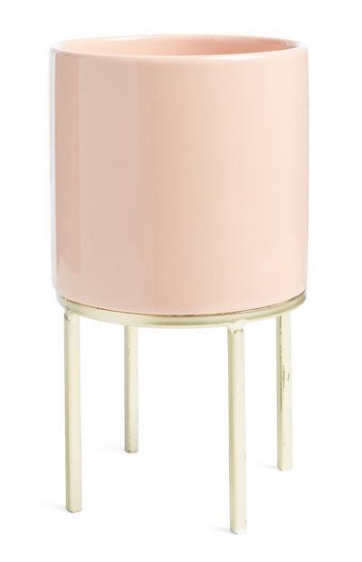 Roze keramische potstandaard