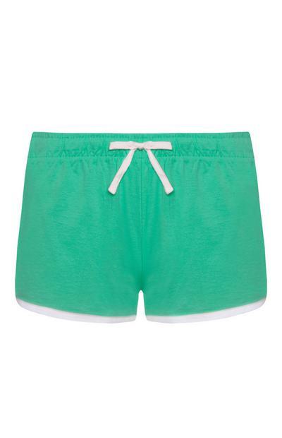 Pantalón corto de chándal verde azulado
