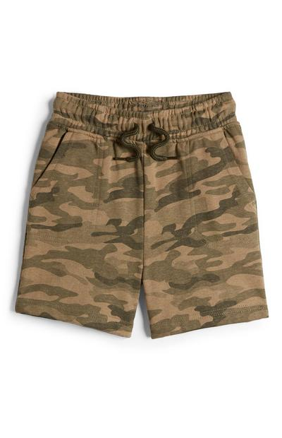 Pantalón corto de camuflaje para niño
