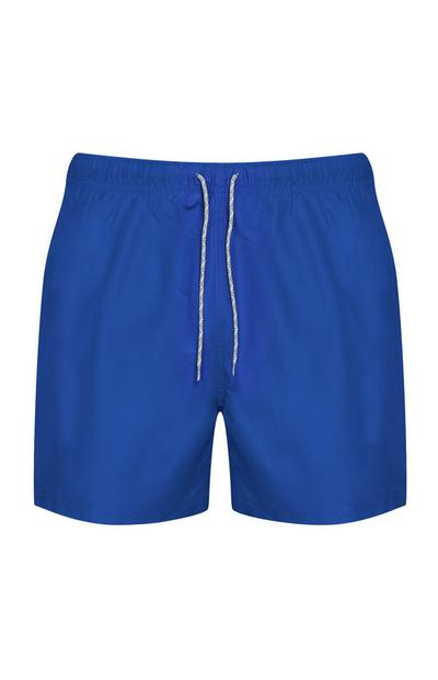 Blauwe zwemshort