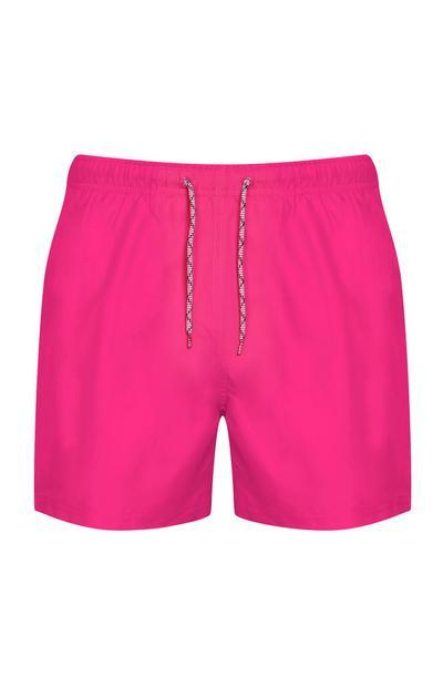 Pinkfarbene Badeshorts