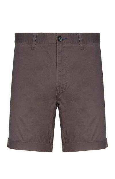 Short chino gris