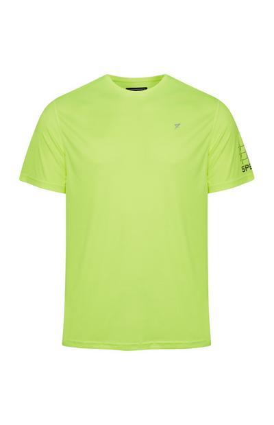 T-shirt sportiva giallo fluo