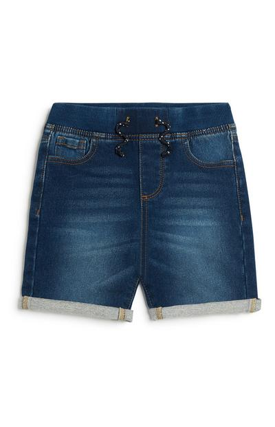 Denim jongensshorts