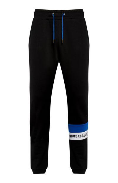 Zwarte joggingbroek met print