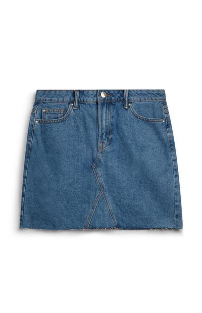 Gonna jeans blu