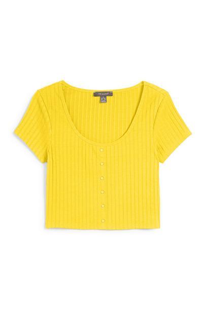 Gele korte top