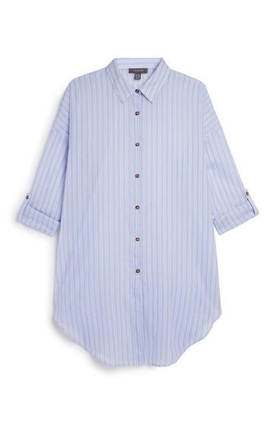 Chemise de plage à rayures