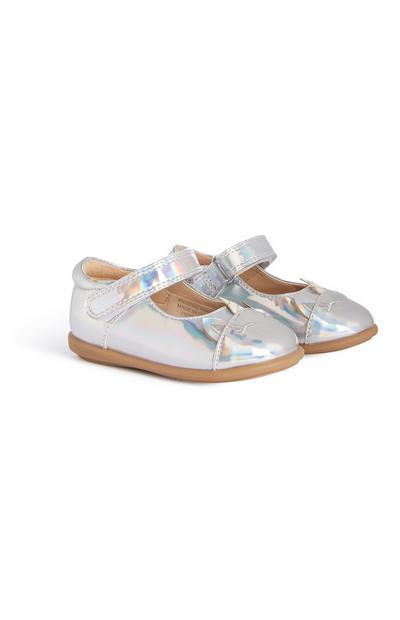 Chaussures argentées fille